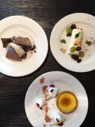 Dark Chocolate Crémeux, Citron Tart, Toffee Cheesecake