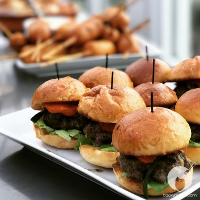 These burgers are made w/ mushrooms in the patty therefore, less meat (note: these are sliders, the real burgers are normal sized!)