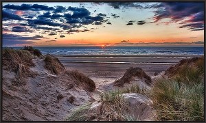 Sunset on Formby Beach