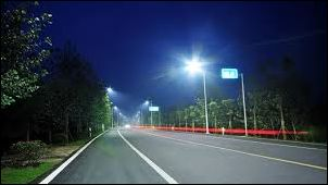 LED street lights in action -- China