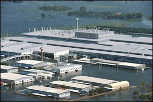 Flooded Honda factory in Bangkok, 2011 -- what you might call a serious business continuity issue.