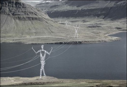Artsy power line proposed for Iceland.
