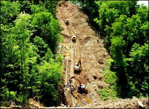 Pipeline construction in West Virginia.