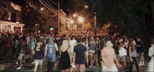 Non-sanctioned block party near UVa like that where the incident took place.