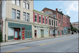 Downtown Petersburg is rich in historical architecture, not much else.