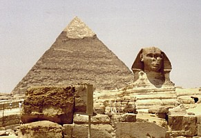 The Great Sphinx of Giza in 1988