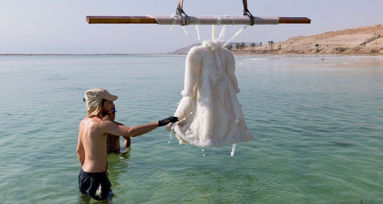 Artist Leaves Dress In The Dead Sea For 2 Years