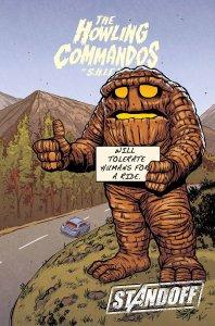 Howling Commandos of S.H.I.E.L.D. #6, copertina di Brent Schoonover