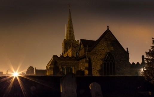 Church by Street Light