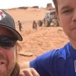 Ecco Matt Damon e lo Space Rover sul set di The Martian, di Ridley Scott