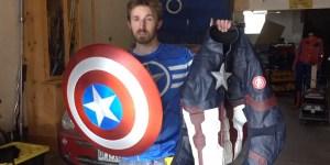 captain america scudo fan