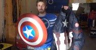 Captain America: Civil War, un fan realizza lo scudo con aggancio elettromagnetico di Cap