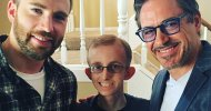 Captain America: Civil War, Robert Downey Jr. e Chris Evans fanno visita ad un fan malato di cancro