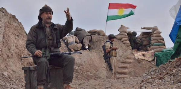 Kurdish fighters fighting Daesh