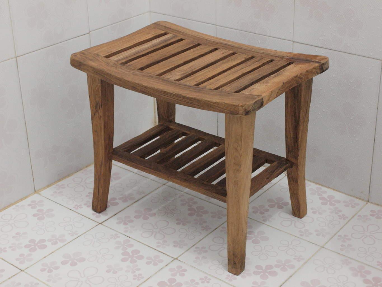 Fullsize Of Teak Shower Bench