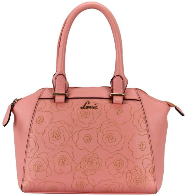 BagsLounge LAVIE NICOLE DOME SATCHEL PINK-BEIGE-GREEN
