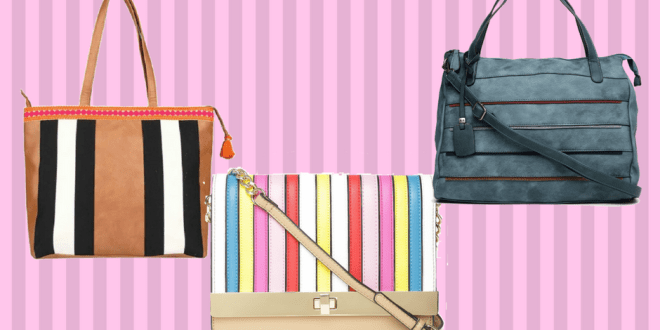Striped Handbags