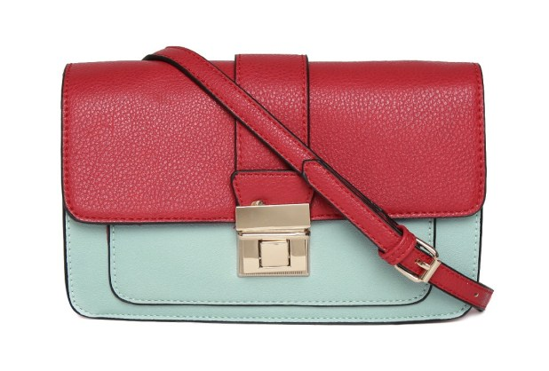Accessorize Red Blue Colourblocked Sling Bag
