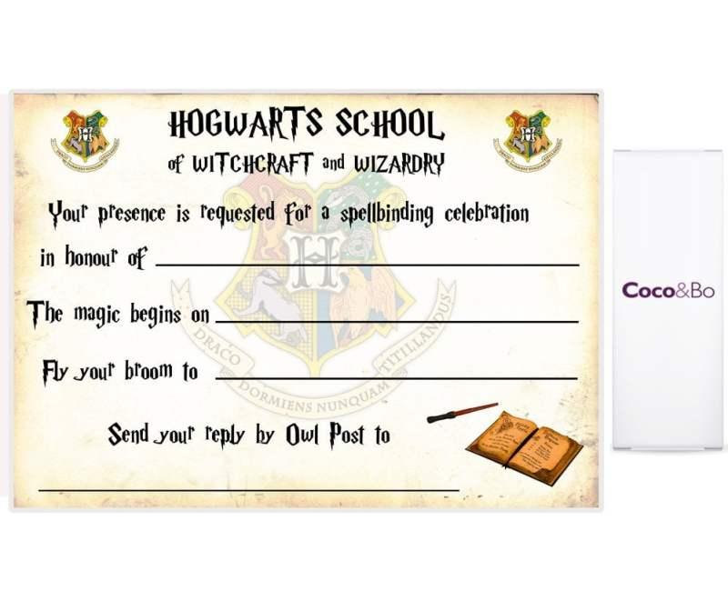 Harry Potter Party Invitation Template | Invitationswedd.org
