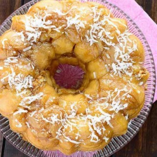 Tropical Monkey Bread - A classic monkey bread is given a tropical twist with coconut milk, pineapple, walnuts, and shredded coconut. And it is made completely from scratch!