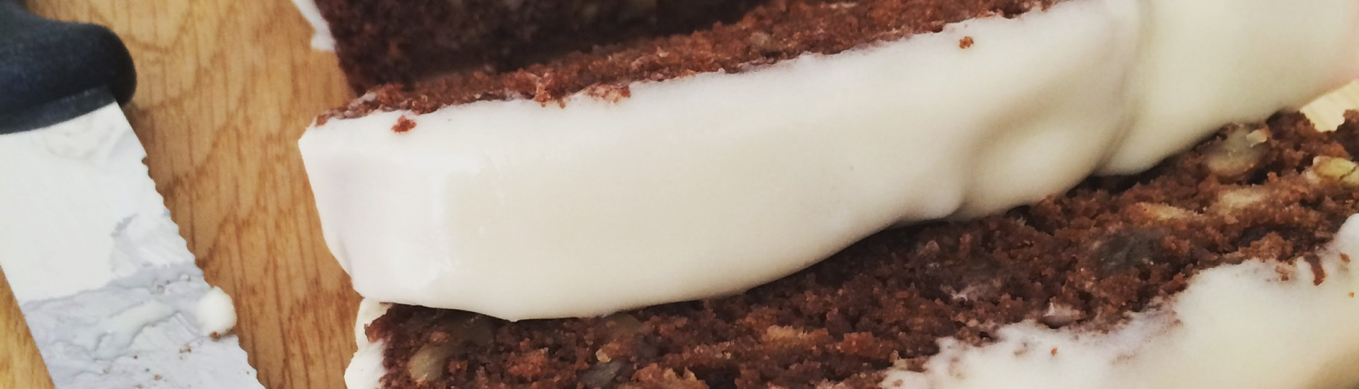 Chocolate banana bread with rum cream cheese frosting - Baked to Imperfection