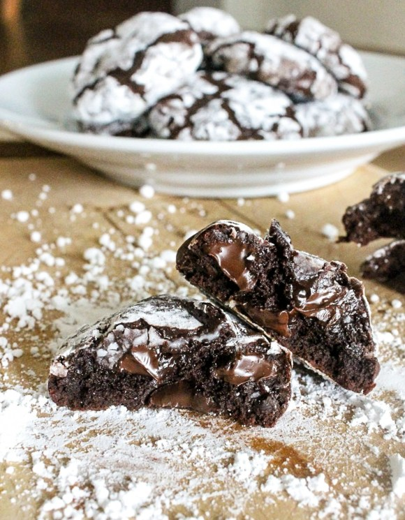 These Chocolate Fudge Crinkle Cookies are naturally gluten-free and full of gooey chocolate! These fudgy cookies will be a new favorite whether you're gluten-free or not.