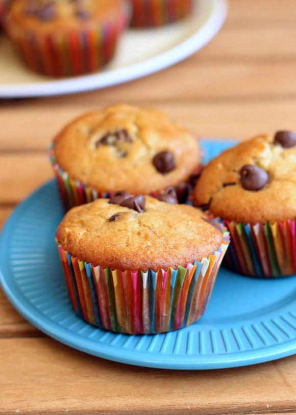 These Banana Chocolate Chip Muffins are gluten-free, vegan, super versatile and extremely delicious! Perfect for easy weekday breakfasts or a yummy snack.
