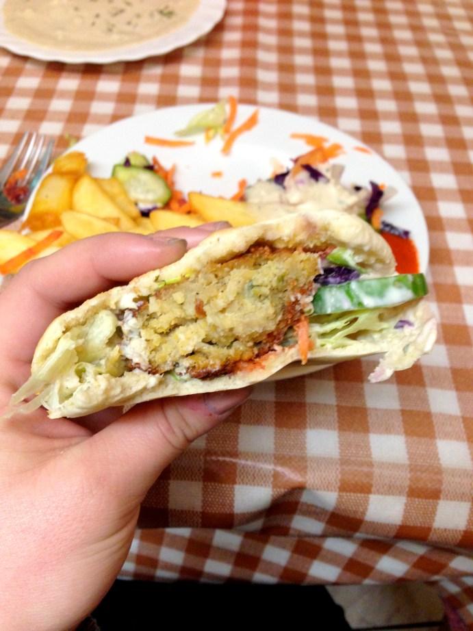 Falafel Pita in Amsterdam, Netherlands | Bakerita.com Abroad Bites
