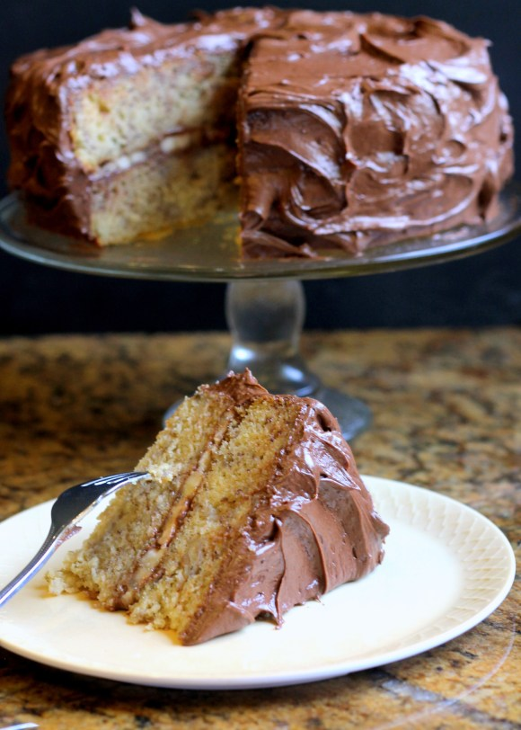 Banana Layer Cake with Chocolate Cream Cheese Frosting ...