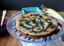 Paleo Banana Blueberry Swirl Cake