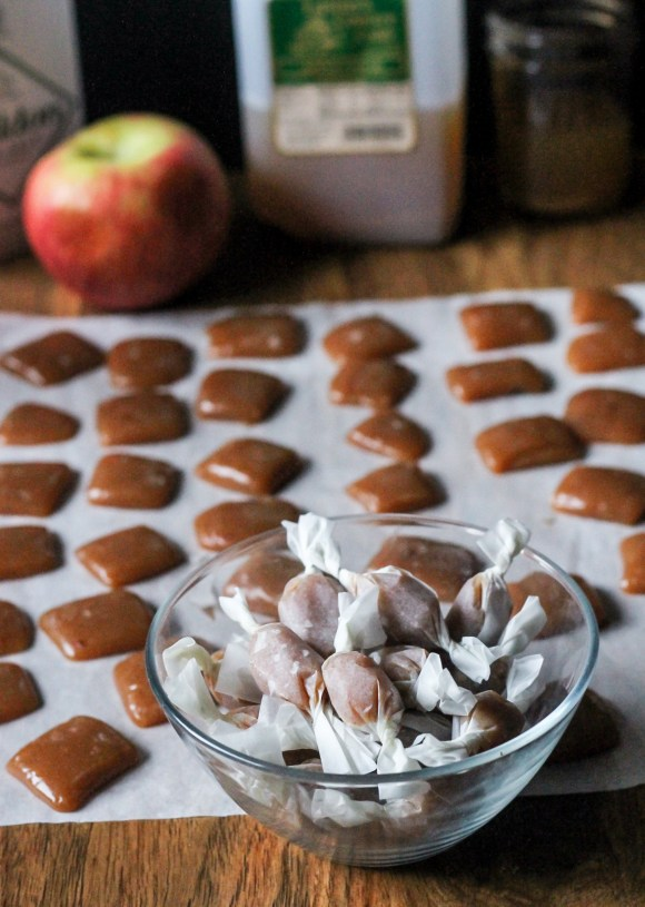 These Apple Cider Caramels are soft, sweet, and absolutely full of apple flavor! They're sprinkled with flaky salt for a perfect sweet treat.