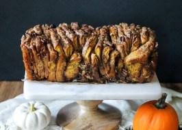 Pumpkin Pecan Cinnamon Sugar Pull Apart Bread