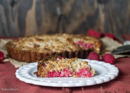 Raspberry Coconut Crumble Tart (Paleo, GF + Vegan)