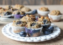 Paleo Banana Blueberry Muffins