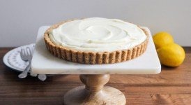 Frozen Lemon Cream Tart with Browned Butter Crust
