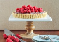 Chocolate Ganache Raspberry Tart