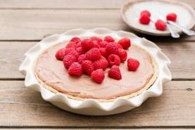 Paleo Raspberry French Silk Pie