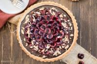 Chocolate Cherry Tart with Toasted Almond Crust (Gluten Free, Paleo + Vegan)