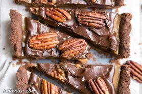 Chocolate Pecan Tart (Gluten Free, Paleo + Vegan)