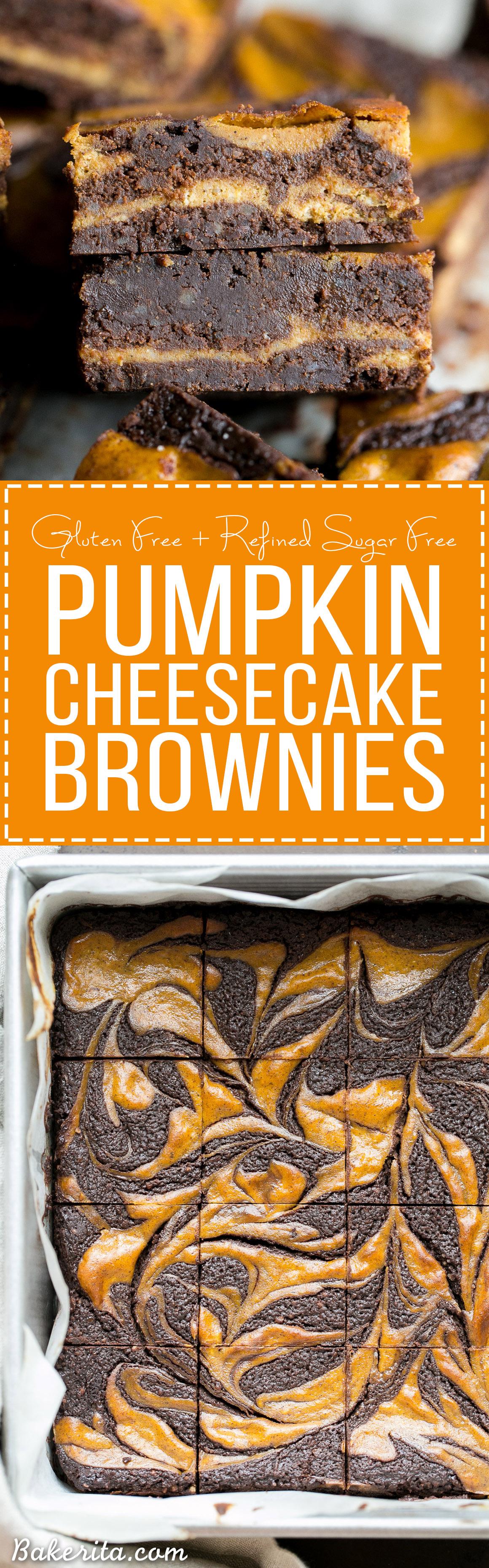 Pumpkin Cheesecake Brownies (Gluten Free + Refined Sugar Free ...