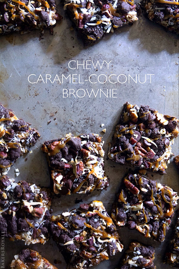 Chewy Caramel-Coconut Brownies | Bakers Royale