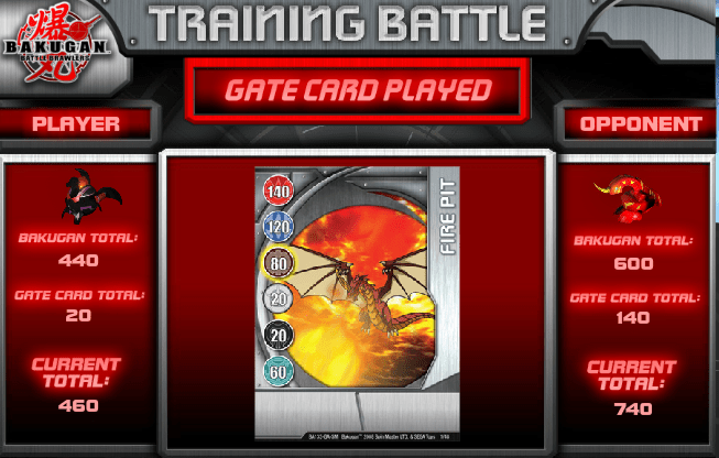 gatecard Bakugan Training Battle