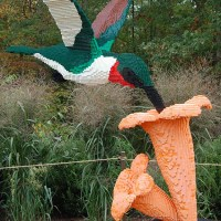 Lego Sculptures at NC Arboretum