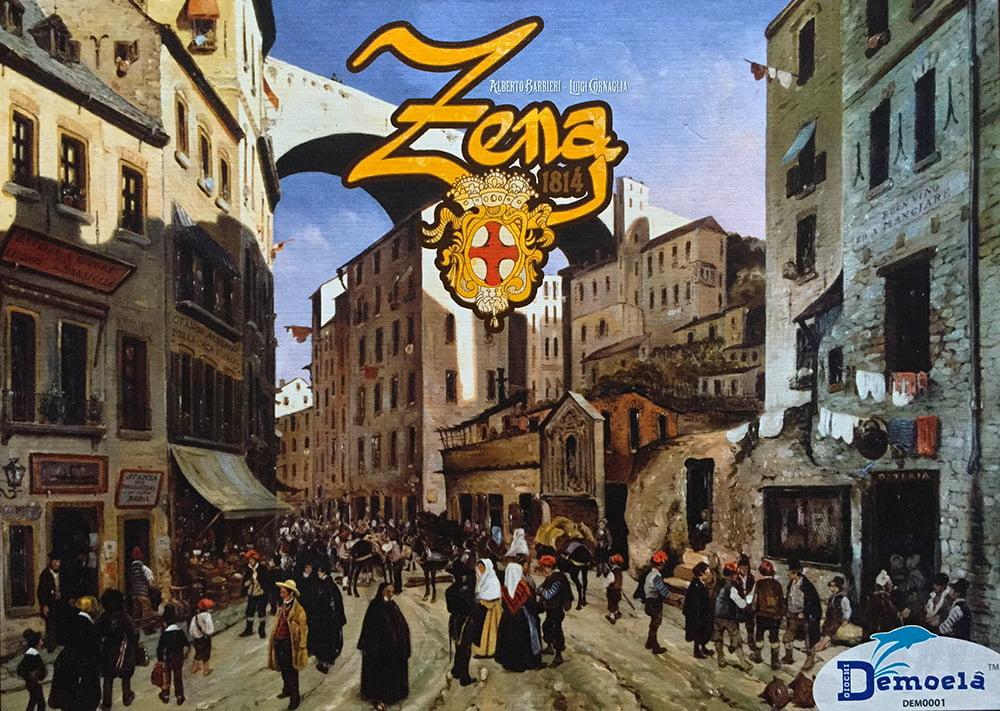 La copertina del gioco: avete capito, vero, che è ambientato tra i caruggi di Genova?