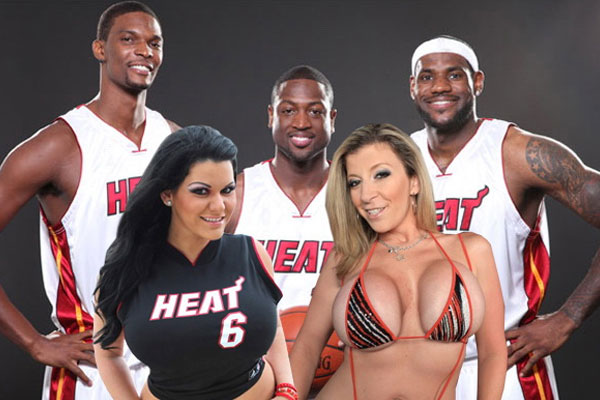 Miami Heat with pornstars Sara Jay and Angelina Castro