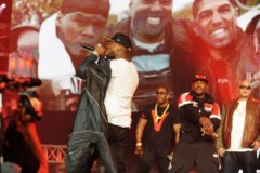 50 Cent on-stage with Fat Joe at 2012 BET Hip-Hop Awards