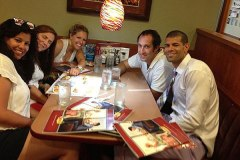 Shane Battier celebrates 2013 Finals win at Denny's