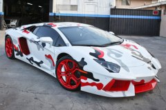 Chris Brown's Foamposite Camo Lamborghini Aventador