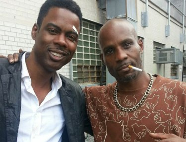 Chris Rock and DMX on set of new movie.