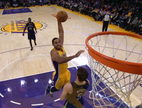 NBA Ballin: Lakers' Xavier Henry Posterizes Jeff Withey